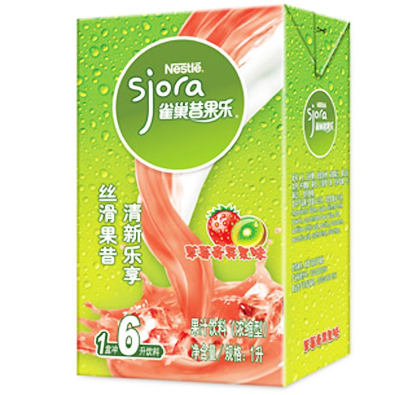 雀巢昔果乐草莓奇异果味 1L*12盒